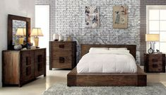 Small bedrooms with big furniture can feel either cozy or cramped. Read our tips to help you arrange your big furniture in your small bedroom like a pro. Rustic Bedroom Furniture, Rustic Bedding, Home Furniture, Bedroom Decor, Furniture Online, Bedroom Rustic, Brown Furniture, Wood Bedroom, Master Bedroom