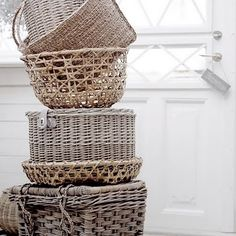 one can never have enough baskets for the house. they lend a natural casualness and cozy feeling.