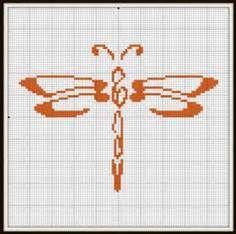 Dragonfly cross stitch pattern | Crafts | Pinterest