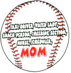 Image detail for -Baseball T-Shirt: Mom Ball