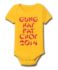 Love this LC Trendz Yellow & Red 'Gung Hay' Bodysuit - Infant by LC Trendz on #zulily! #zulilyfinds