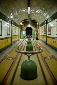 A 1920s Metro station. Genova (Genoa), Italy