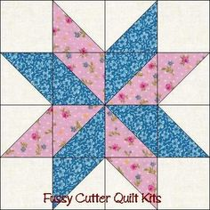 Free Easy Quilt Block Patterns | ... Points Star Pre-Cut Easy ...