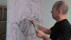 Quatre jours durant j'ai filmé Laurent Dauptain dans son atelier. Il peignait un immense autoportrait de 195x130cm. Le film suit chaque instant de la création, chaque trait de fusain, chaque hésitation, chaque touche de peinture. La figure apparaît dans l'effacement du trait, le mélange des couleurs, le passage de l'acrylique à l'huile. C'est un champ contre champ de 26mn entre l'artiste et son image où, plan après plan, se révèle le visage du peintre.   *  During four days I filmed Laurent…