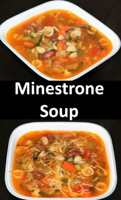 Minestrone soup is a thick soup of Italian origin made with vegetables, Pasta or Rice and with beans. Common Ingredients include beans, onions, celery, stock and tomatoes. This is very basic soup but its taste is out of the world. It is jam-packed with nutritious value. This soup is perfect for chilly days. So here is a hearty Minestrone soup which wont take too much time to cook. You can use any kind of vegetables you like.