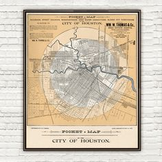 Old map of Houston Texas 1890 - product image