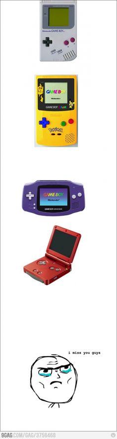 Past portable consoles