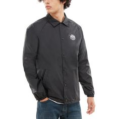 Shop Torrey Coaches Jacket today at Vans. The official Vans online store. Vans Jacket, Vans Online, Buy Vans, Black Vans, Black And White Man, Models, Coaches, Casual Looks, Jackets
