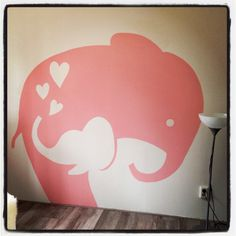 Just because I love elephants!!! Elephant wall mural mom and baby :)