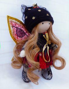 Gretta - Handmade Collection Cloth Dolls - Art Doll - Home Decoration 28 cm by DiDolls on Etsy https://www.etsy.com/listing/231781139/gretta-handmade-collection-cloth-dolls