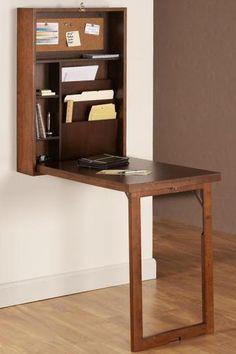 "$160 Cabinet: 32""H x 22""W x 6""D. Desk: 32""H x 22""W x 20""D. Murphy Desk - Desks - Home Office Furniture - Furniture   HomeDecorators.com"