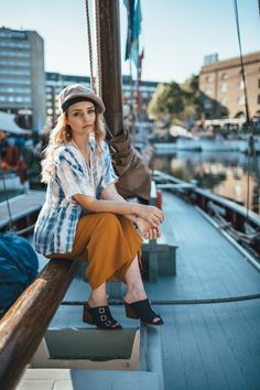 Sitting On The Dock | Laura Bradshaw - A Fashion Blog - Anthropologie #anthropologie #clothes