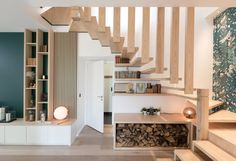 A house ode to nature - Wood Decora la Maison Entrance Foyer, House Entrance, Interior Architecture, Interior Design, Office Interiors, Home And Living, Home Office, Sweet Home, New Homes