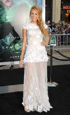 BAM. Bombshell Blake Lively Is Our Style Icon of the Week. At the 2011 premiere of Green Lantern, Blake wore this beautiful white Chanel Couture gown—which, incidentally, looks very similar to Poppy Delevingne's custom Chanel wedding gown. But it's all kind of meant to be since Blake walked the red carpet with future hubby and costar Ryan Reynolds.