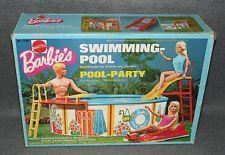 Barbie Swimming-Pool Pool-Party 70er Jahre Vintage Möbel Schwimmbecken Pool