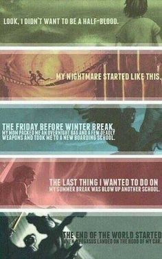 First words of the Percy Jackson series