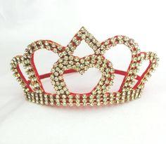 Coroa Coração Vazado Vermelho