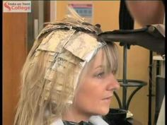 Full Head of Blonde Highlights with Foils on Long Hair: Hair Tutorial: Blonde on Light Brown - YouTube