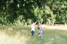 Austin + Conner | Engagement Session | Chickamauga Battlefield | Fort Oglethorpe, Georgia | engagement, photo, session, pose, couple, trees, field, magical, bright, romantic, film