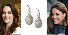 Kate is sporting the Hope Egg earrings in white topaz. Way to go, Kate! www.diamonds.pro
