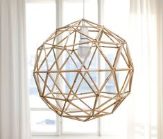 yesterday, today and tomorrow: Ready! Straw Crafts, Diy Straw, Straw Sculpture, Straw Decorations, Diy Luminaire, Straw Art, Geometric Sculpture, Geometric Decor, Light Crafts