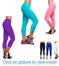 781df58ecf2492 Amazon.com: iLoveSIA Women's Tights Capri Yoga Running Workout Leggings  Pants US Size L Blue: Clothing