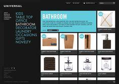 Good e-commerce design  Universal by C4CREATIVE , via Behance