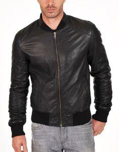 Men Leather Jacket Stylish Slim fit Soft Lambskin Bomber Biker Jacket -S621 #Handmade #BasicJacket