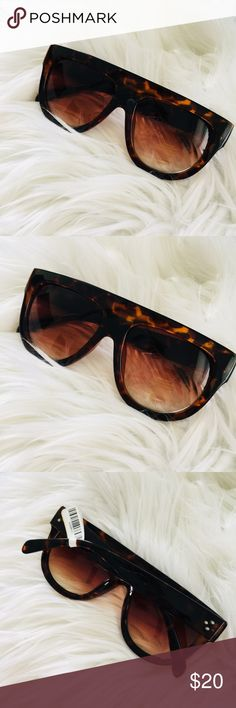NEW Bridged Dark Brown Tortoise Shell Sunglasses Brand new and never worn! Accessories Sunglasses