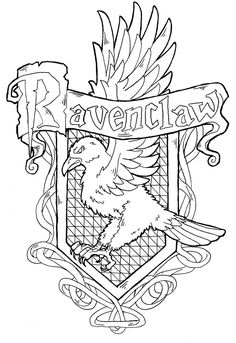harry potter house crest coloring pages education pinterest