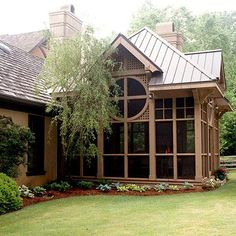 Porches are much more than spots to enjoy the outdoors. Well-decorated, well-planned porches can boost curb appeal, exhibit a homeowner's style, and extend practical living space. Here are 22 ideas to inspire your own porch designs. Home Porch, House With Porch, Ivy House, Outdoor Rooms, Outdoor Living, Outdoor Kitchens, Outdoor Patios, Front Porch Remodel, Gazebos