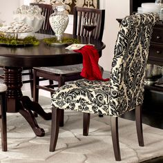 Angela Deluxe Dining Chair - Onyx Damask Pier One