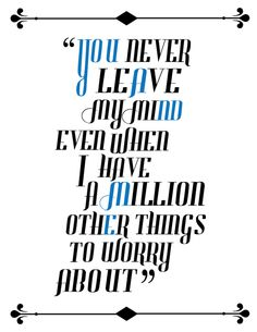 Typography Music Quotes by Jordan Cuellar, via Behance