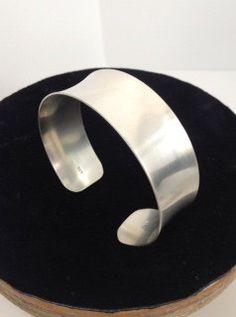 Simple But Elegant Sterling Silver Cuff Bracelet by MeAndMyMansJewelry on Etsy