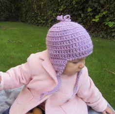 Gorro peruano Rosa de 9 a 18 meses en lana 100% natural