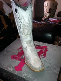White Wedding Cowboy Boots for party