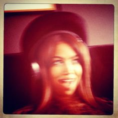 Hat and headphones listening to the radio edit of INLOVE WITH WORLD!!! Juhu!