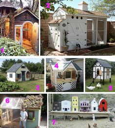 funky chicken coops. WANT! Greg will regret telling me I could have chickens one day