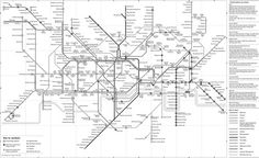 A Black and White version of London's Tube map. Possible inspiration for London Layout to be colourblind friendly London Tube Map, Headshot Photography, Data Visualization, Signature Style, Diagram, Layout, Black And White, Maps, Inspiration