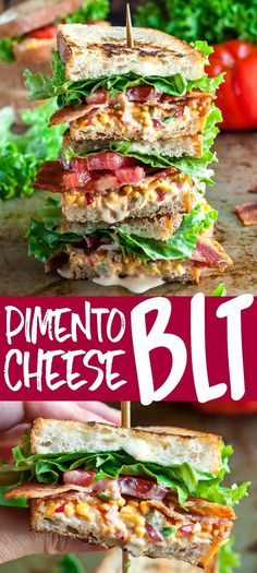 4 Points About Vintage And Standard Elizabethan Cooking Recipes! This Glorious Stacked Sandwich Is Piled High With Smoky Bacon, Crisp Lettuce, And Creamy Pimento Cheese For The Ultimate Pimento Cheese Blt Experience Pimento Cheese Sandwiches, Pimento Cheese Recipes, Lunch Recipes, Cooking Recipes, Healthy Recipes, Sandwich Recipes, Detox Recipes, Delicious Recipes, Delicious Sandwiches