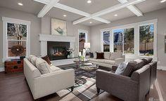 Living Room - Color Scheme 1 | $2.4 Million Newly Built Craftsman Home In Bellevue, WA