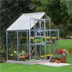 4×6 Popular Horticultural Glass. Our Silver Aluminium Popular 4 x 6 Metal Greenhouse is a great way for garden enthusiasts to grow a great variety of plants in different seasons. This greenhouse comes in three different glazing finishes horticultural, polycarbonate or toughened glass. This long lasting and low maintance greenhouse also comes with a 15 year guarantee.