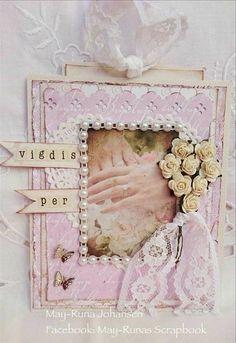 May-Runs har lagd dette nydelige bryllupskortet med ark fra Marias Verden.