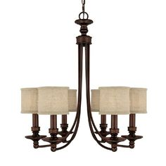 "Capital Lighting 3916 6 Light Midtown Chandelier - Lighting Universe 27"" $460"