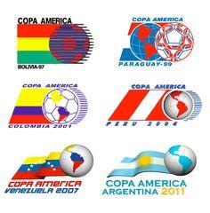 Logotipos Copa América desde 1997 al 2011