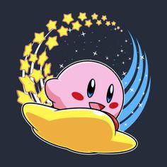 #Nintendo: #Kirby riding a shooting star t-shirt.
