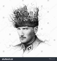 Mustafa Kemal Ataturk collage illustration, President of Turkey,Leader,DrawingAt… – Drawing Art Session Face Collage, Collage Art, Collage Illustration, Digital Illustration, Old Faces, Printable Art, Art Drawings, Drawing Art, Vivid Colors