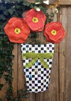 A personal favorite from my Etsy shop https://www.etsy.com/listing/230947165/summer-door-hanger-flower-pot-door