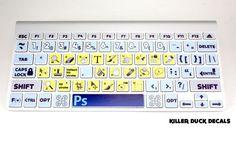 Stickers para aprenderse los atajos de teclado de Photoshop   La Guarida Geek