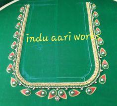 Aari Work Blouse, Hand Work Blouse Design, Blouse Designs